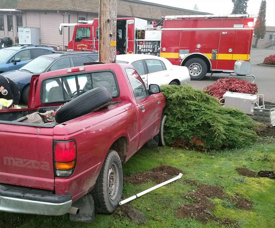 One person was sent to the hospital after a pickup truck crashed into a utility pole on Wednesday morning on Diamond Lake Boulevard. The driver's identity and condition are not yet known. (RFD)