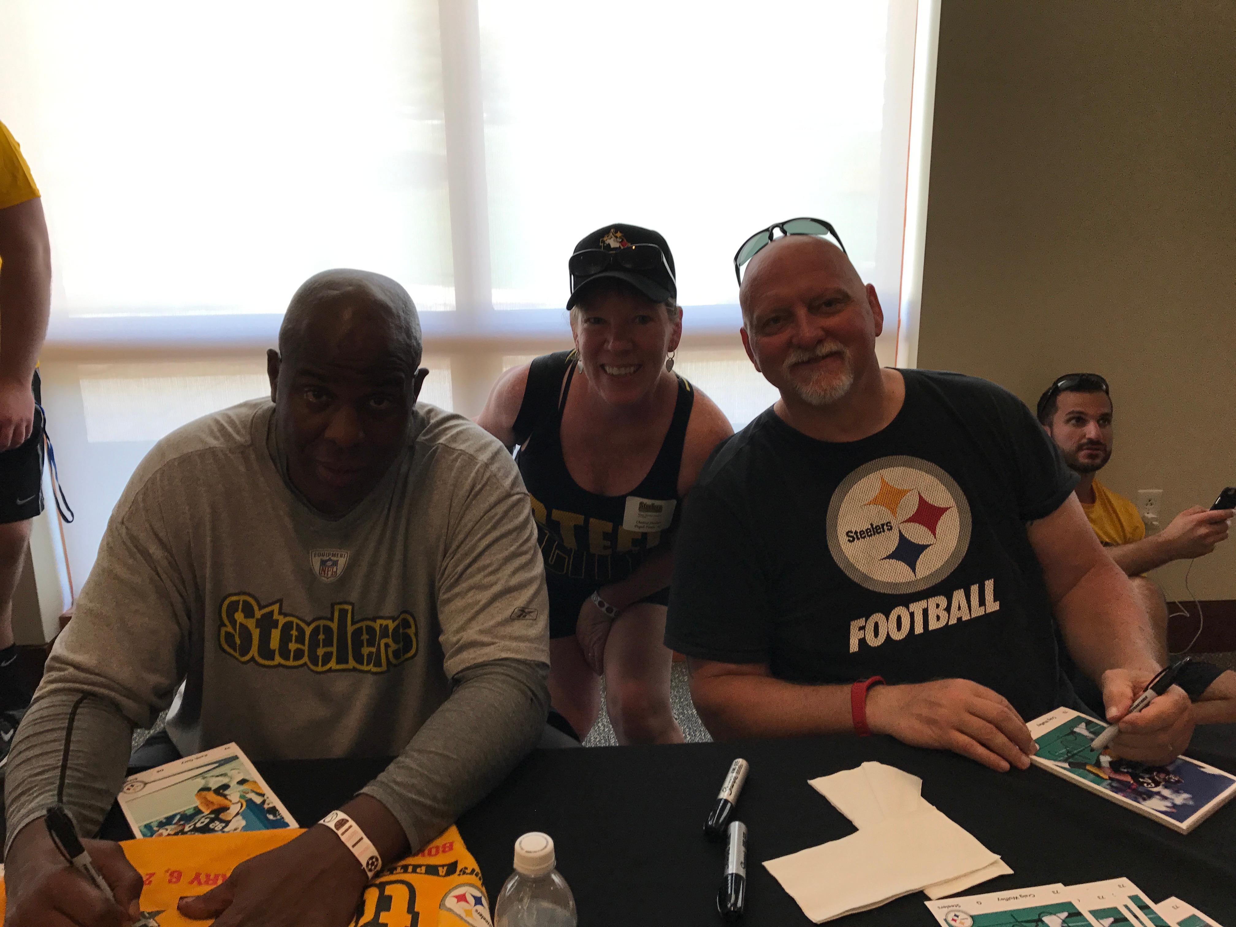 FILE - Chantel Sheehan of Asheville said she gained enough points with the Steelers Fan Club to be entered into a special raffle. The raffle was for a pregame experience at the Steelers football game against the Browns on Sunday, Dec. 31. (Photo credit: Chantel Sheehan)