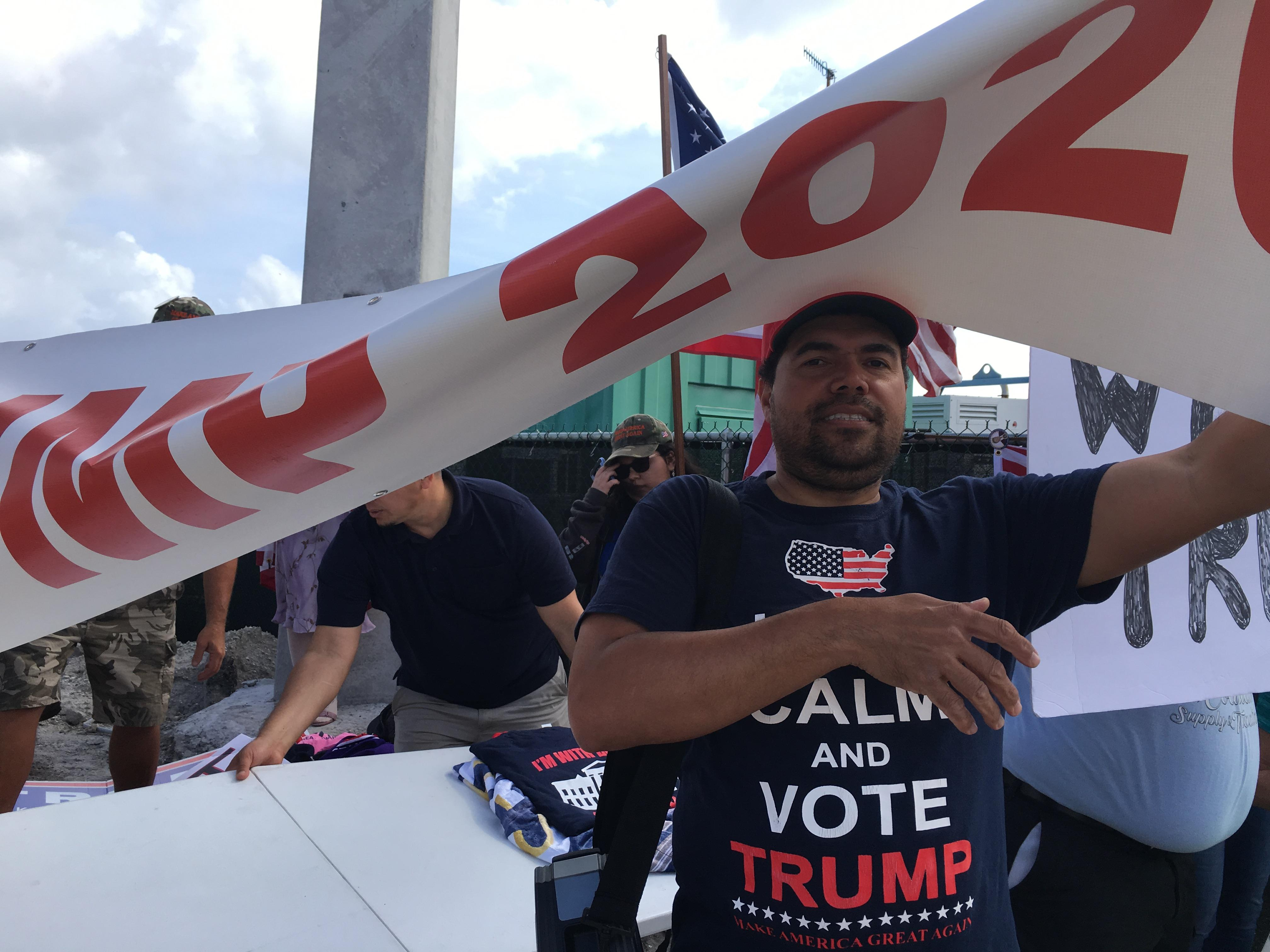 President Trump's supporters also came to the protest to defend the president. (WPEC)