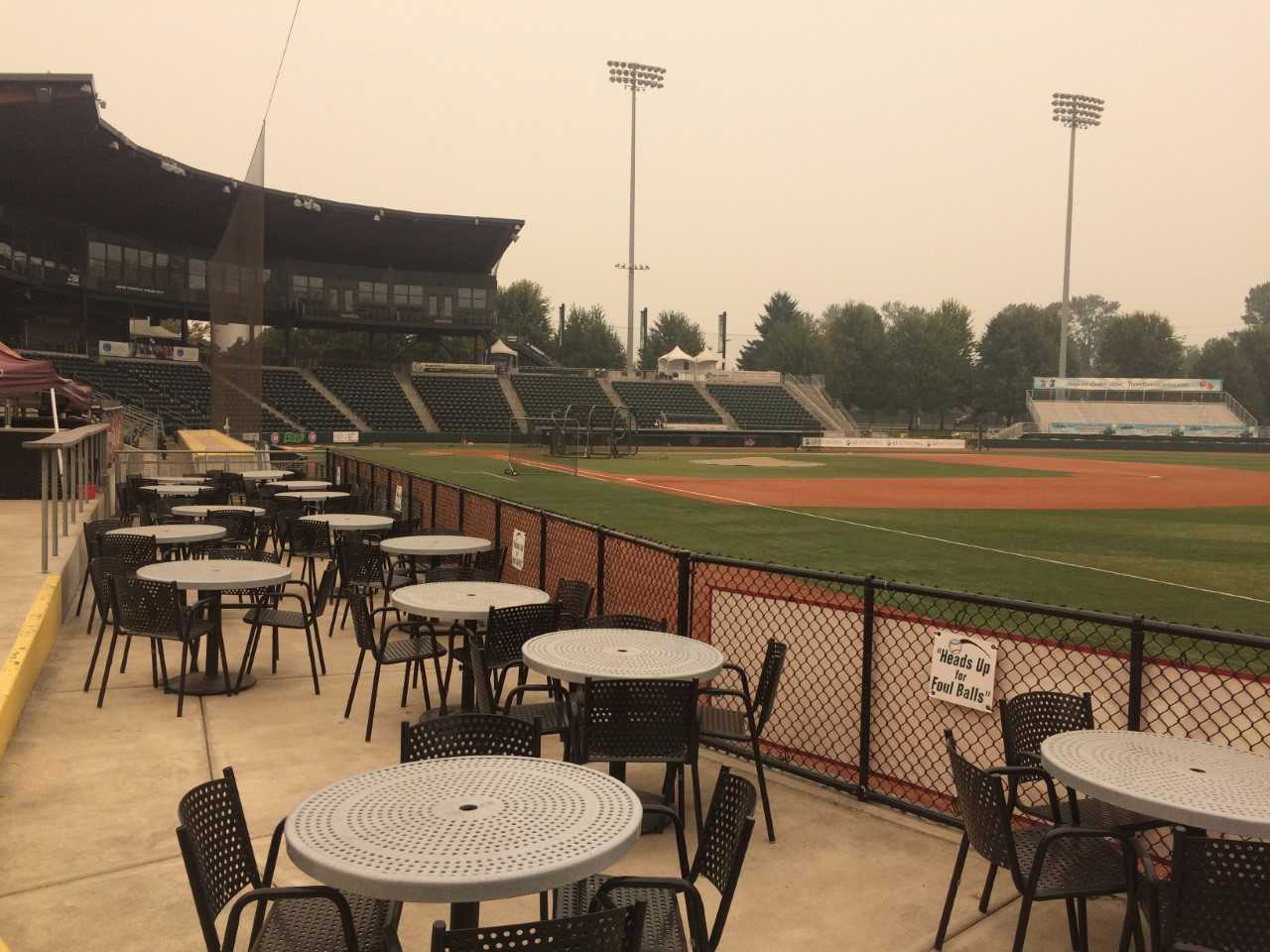 The Eugene Emeralds were forced to postpone their playoff game scheduled for Tuesday night vs. Hillsboro due to smoke.