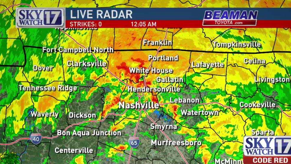 Code Red Harvey Brings Tornado Warnings Heavy Rain To Tennessee