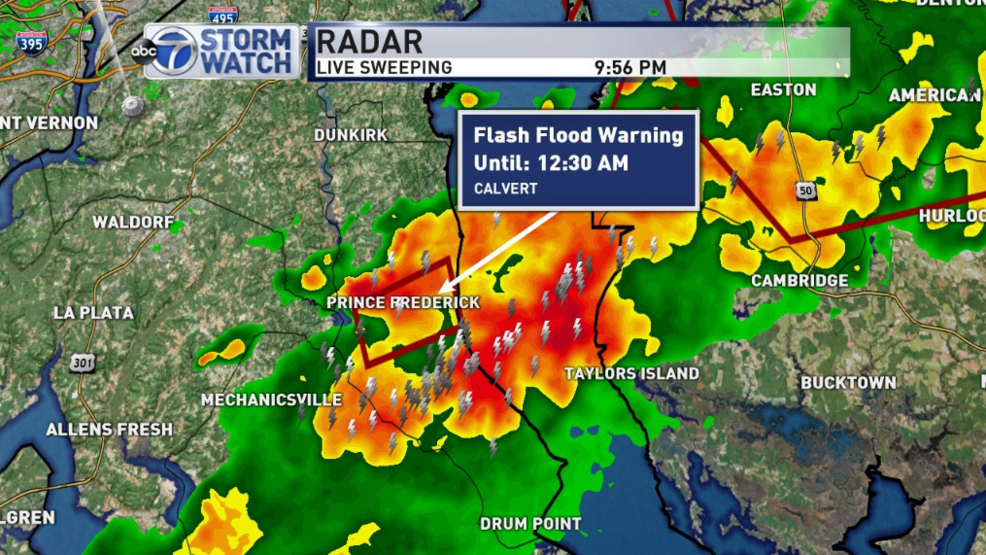 Flash Flood Warning issued for Calvert County