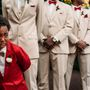 6-year-old boy breaks down into tears watching his mom walk down the aisle