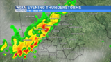 Strong thunderstorms are possible Friday evening