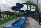 The new water slide at Erb Park in Appleton is ready for visitors July 12, 2017.