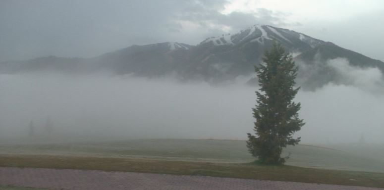 Sun Valley (Bald Mountain) is covered in white at the top!