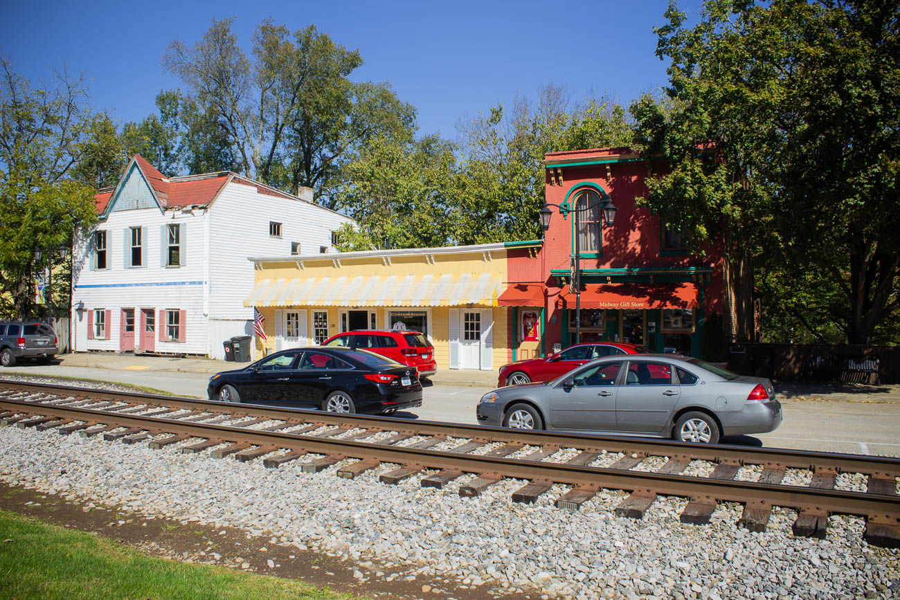 There are over 150 registered historic buildings in Midway. Even though there are plenty of contemporary shops and eateries along East Main Street, you don't escape the past for long when you stop to watch active trains driving through the middle of town. / Image: Katie Robinson, Cincinnati Refined // Published: 10.23.18