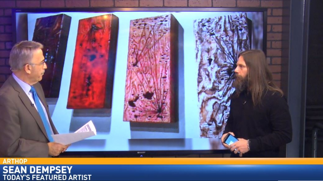 Local artist, Sean Dempsey, visited Great Day to talk about ArtHop and to show some of his work.