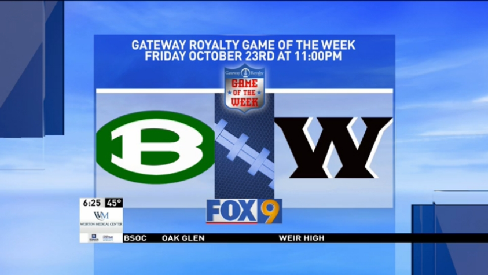 WTOV9 Gateway Royalty Game of the Week Preview: Brooke at Weir