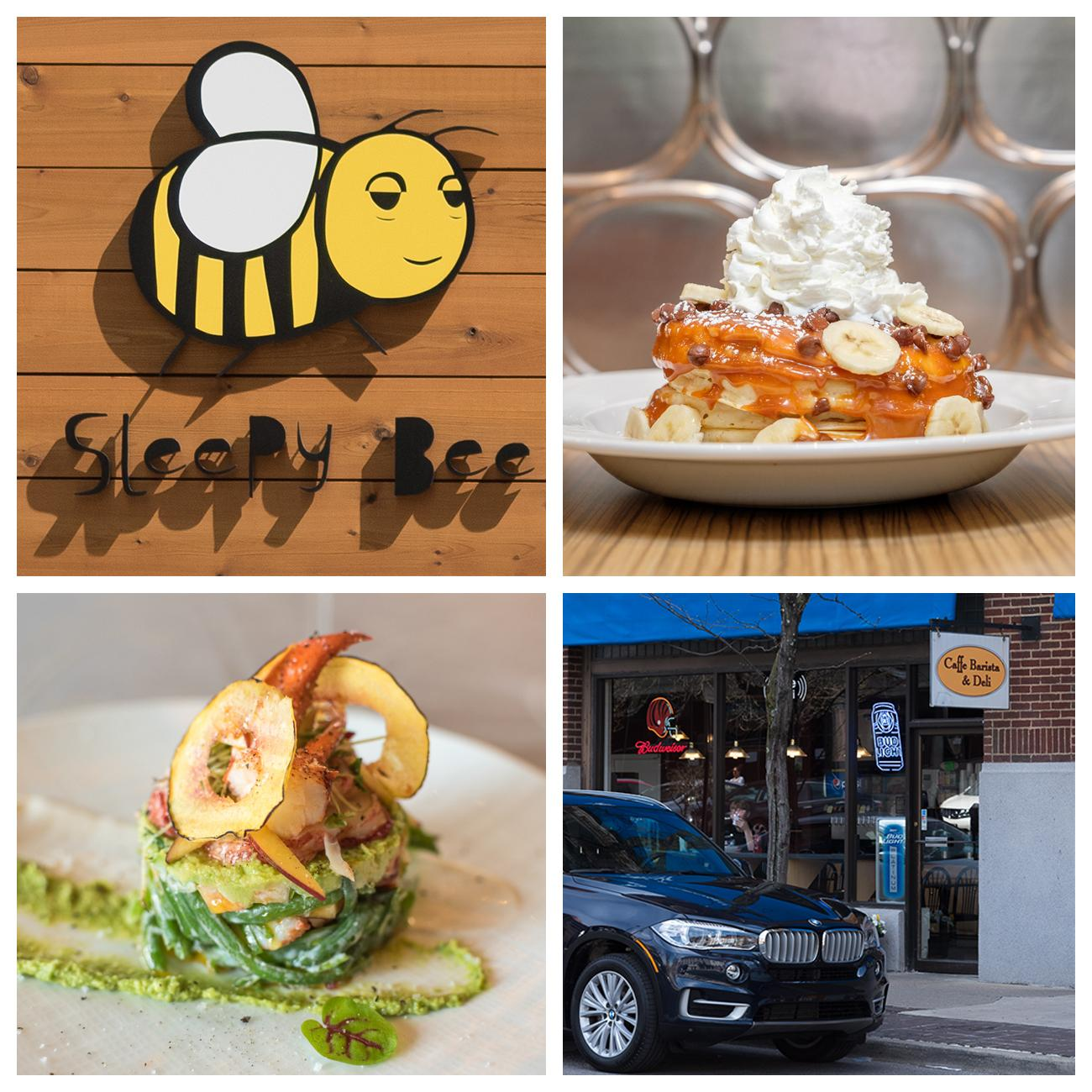 4th Street has many cafes and restaurants: (clockwise from top left) Sleepy Bee Cafe, Wild Eggs, Cafe Barista & Deli, and Restaurant L / ADDRESSES: 8 E 4th Street, 301 E 4th Street, 231 W 4th Street, 301 E 4th Street / Images: (clockwise from top left) Leah Zipperstein, Amy Elisabeth Spasoff, Sherry Lachelle Photography, and Leah Zipperstein // Published: 4.23.18