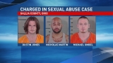 Investigators say three men facing several charges in juvenile sexual assault case