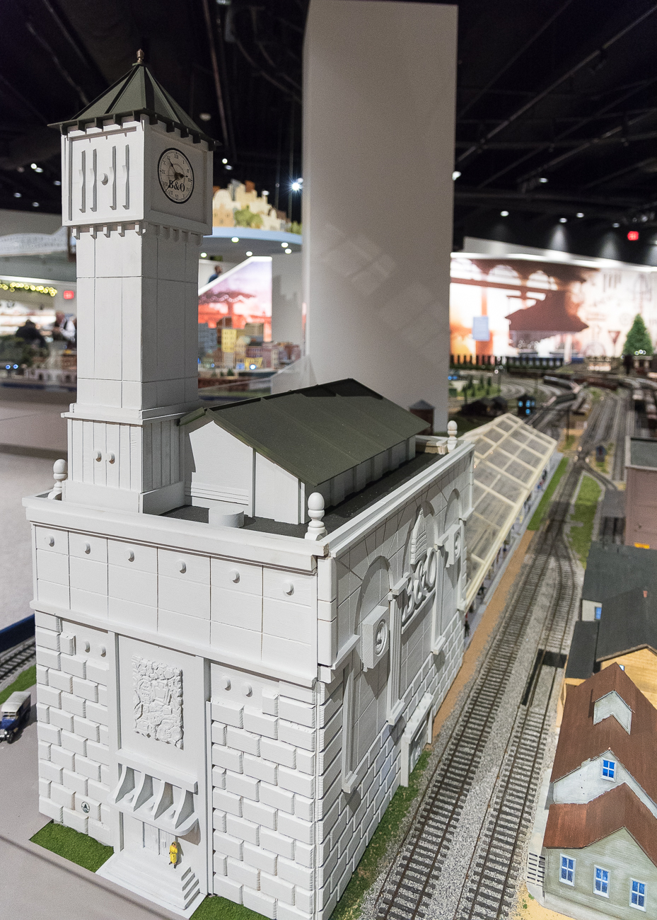 Duke Energy gave the trains to the Cincinnati Museum Center in 2011 for safe keeping. Since the trains returned to the museum this year, modern additions were added to the exhibit. Holiday Junction, as it's called, features not only the Duke Energy Holiday Trains, but also a collection of other to-scale trains that roll around miniature scenes. / Image: Phil Armstrong, Cincinnati Refined // Published: 11.15.18