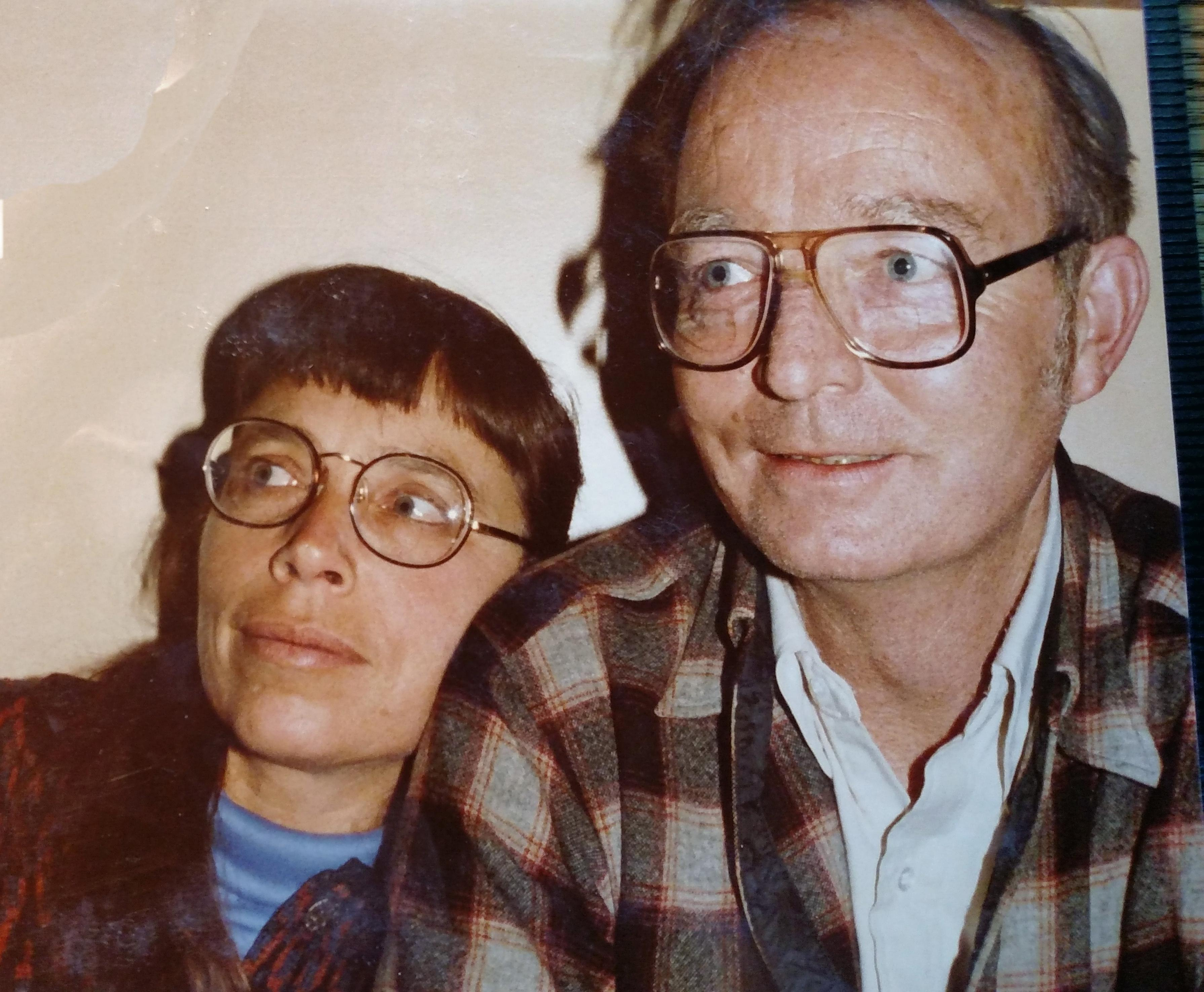 Artist Betty LaDuke and her husband, Peter Westigard, entomologist at the Southern Oregon Research and Extension Center circa 1990. (Courtesy photo)