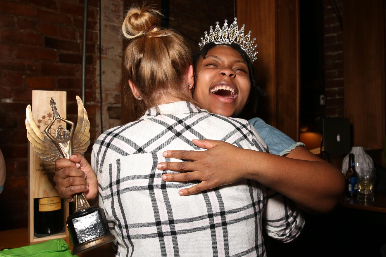 Kapri won a crown, trophy and a bottle of chartreuse - the top three competitors were also invited to Jim Beam headquarters in Kentucky.  (Amanda Andrade-Rhoades/DC Refined)