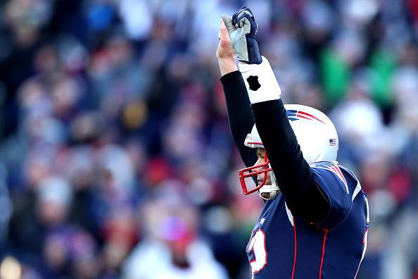 The Patriots advanced to their eighth straight conference championship game.