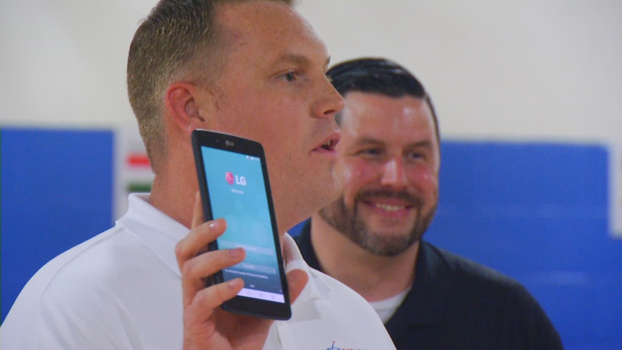 The Boys and Girls Club of Buncombe County was given $5,000, which was used to buy 10 brand new LG G Pad tablets. (Photo credit: WLOS Staff)
