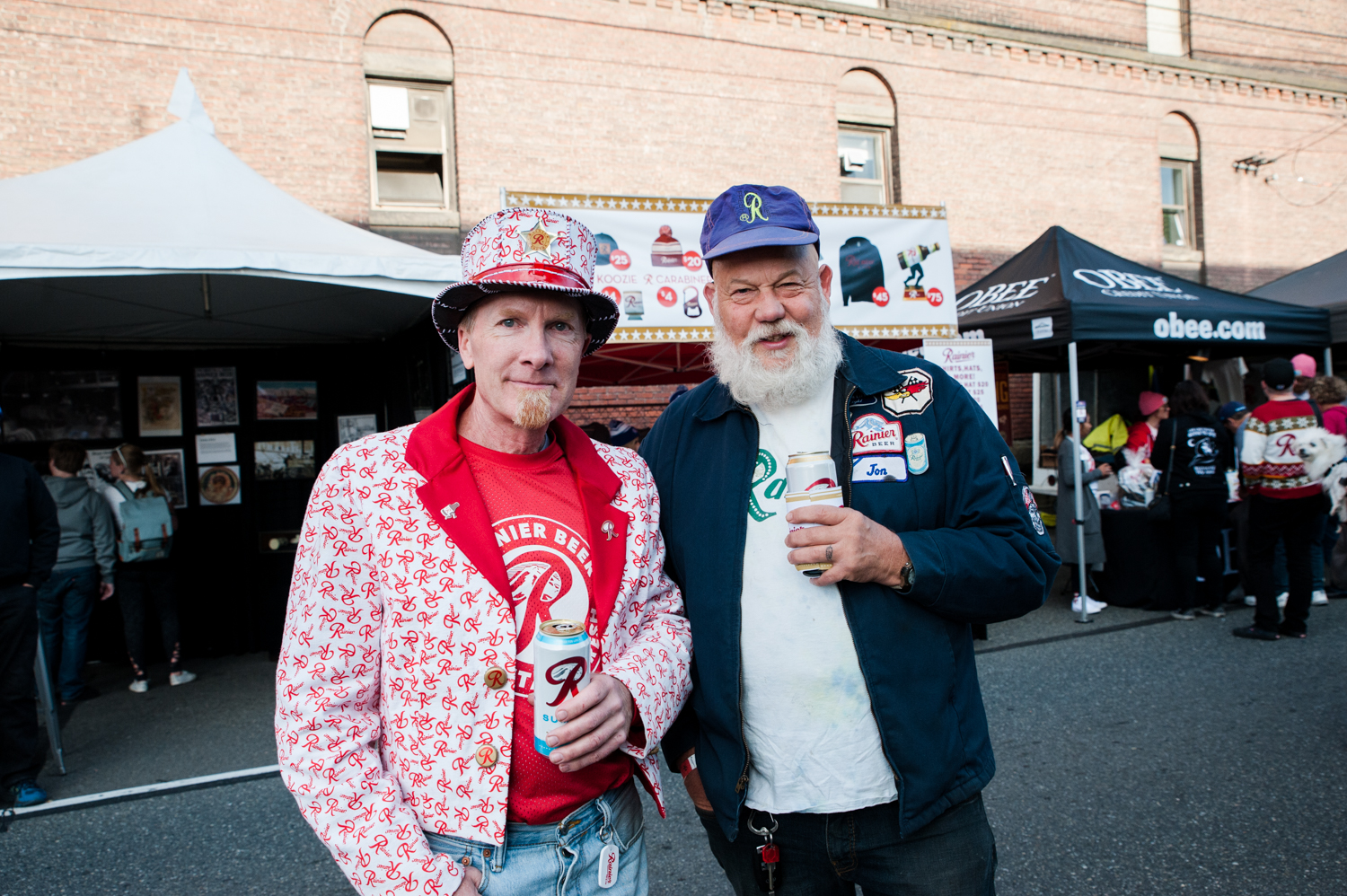 <p>Beer enthusiasts were treated to a free event in Georgetown to celebrate 'R Day', an annual celebration of Rainier Beer's rich heritage. The day is filled with community, music and awesome merchandise. Patrons donned clothes, hats, jackets, emblazoned with the iconic 'R', all the while sipping delicious local brews. (Image: Elizabeth Crook / Seattle Refined)</p>