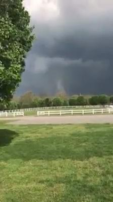 A tornado touched down at Rising Star Ranch in Shelbyville on Wednesday. (Courtesy Rising Star Ranch/Davis Williams)Thumbnail