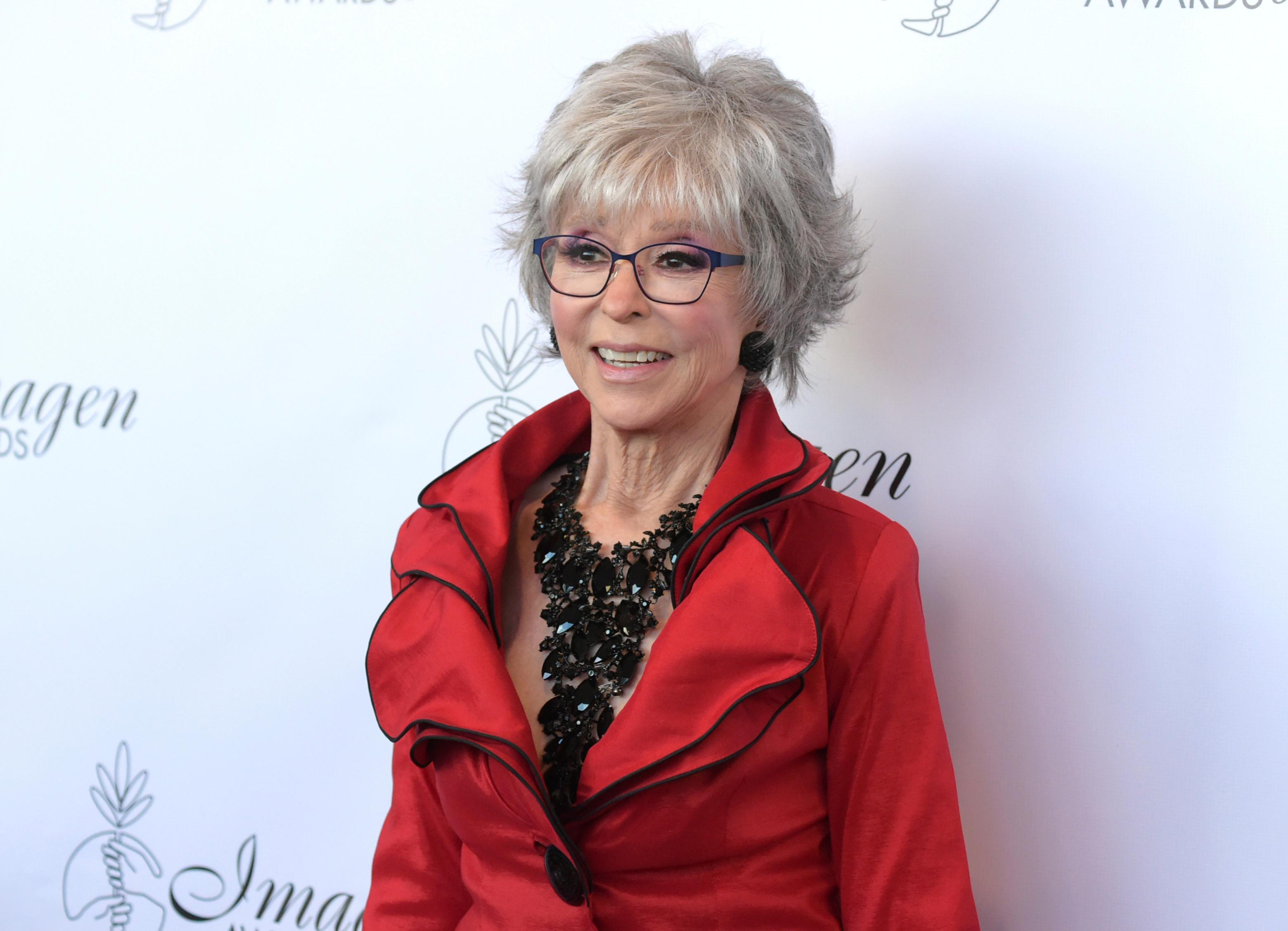 "FILE - In this Aug. 25, 2018, file photo, Rita Moreno arrives at the 33rd annual Imagen Awards in Los Angeles. PBS announced Monday, July 29, 2019, it will air a documentary about Moreno, ""Rita Moreno: The Girl Who Decided to Go For It,"" charting her decades-long career. The project is slated to air in 2020. (Photo by Richard Shotwell/Invision/AP, File)"