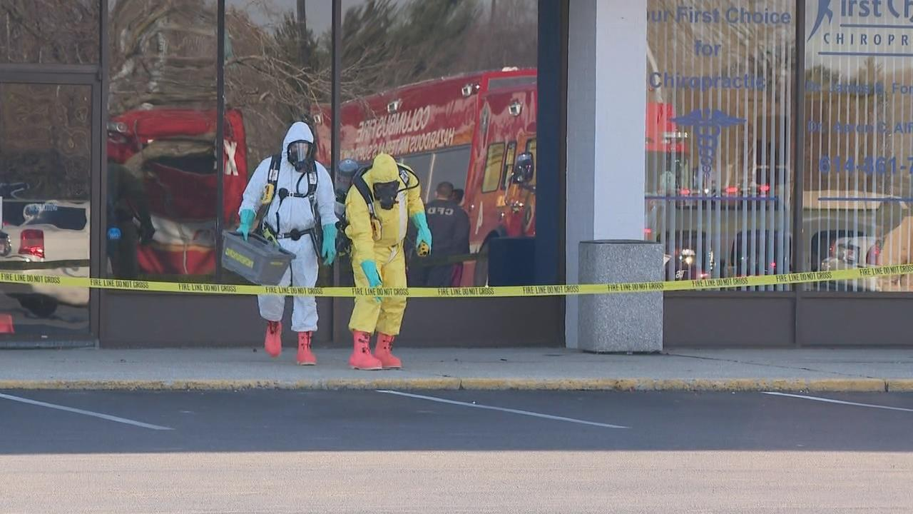A mixture of two different toilet bowl cleaners caused a worker to get sick and led to a hazmat response at a vacant store in east Columbus (WSYX/WTTE)