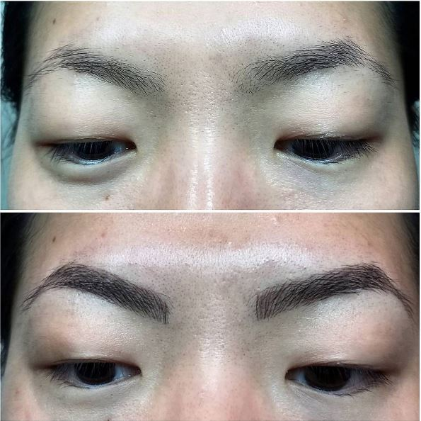 Before/After Microblading  Image: Gene Juarez