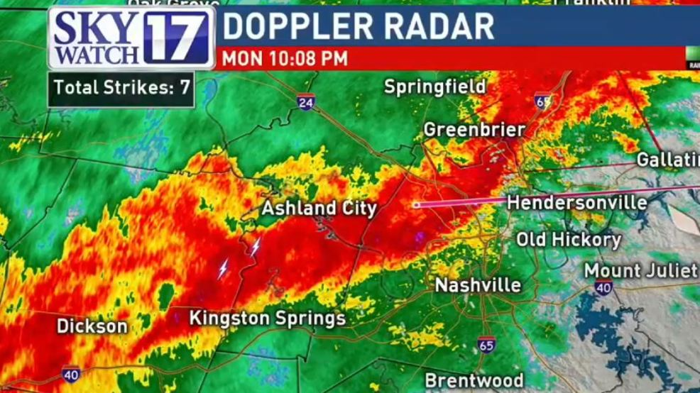 Radar Weather Map Nashville Tn.Code Red Suspected Tornadoes Touch Down Warnings Continue Wztv