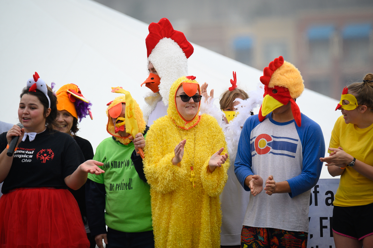 The Freeze Cats dressed as chickens. / Image: Phil Armstrong // Published: 2.1.20