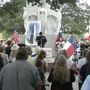 Protesters rally to save the Alamo Cenotaph