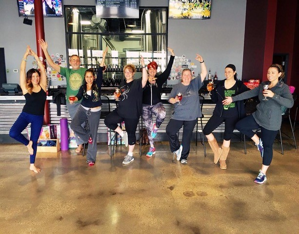 The Bend and Brew class at the Woodbridge brewery is back, with Rock OM Yoga, the '60s and '70s edition. Build strength, flexibility and balance, and get in a little relaxation with a refreshing pint of beer after class. (Image: Courtesy Ornery Beer Company)