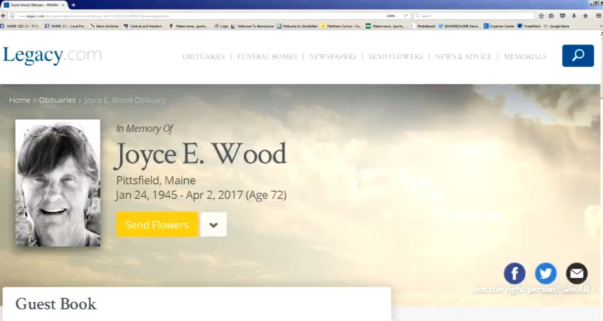 Joyce Woods (Legacy.com screenshot)