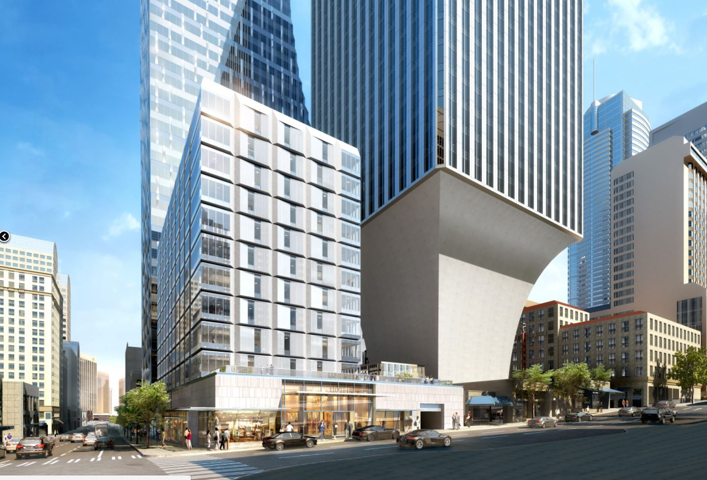 Views of Rainier Square from Fourth Avenue and University Street.. (Renderings courtesy of Wright Runstad &amp;amp; Company)<p></p>