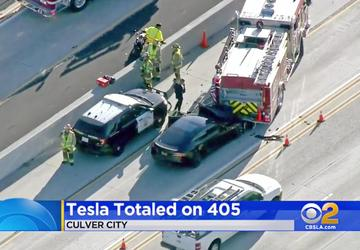 2 federal agencies send teams to probe Tesla freeway crash
