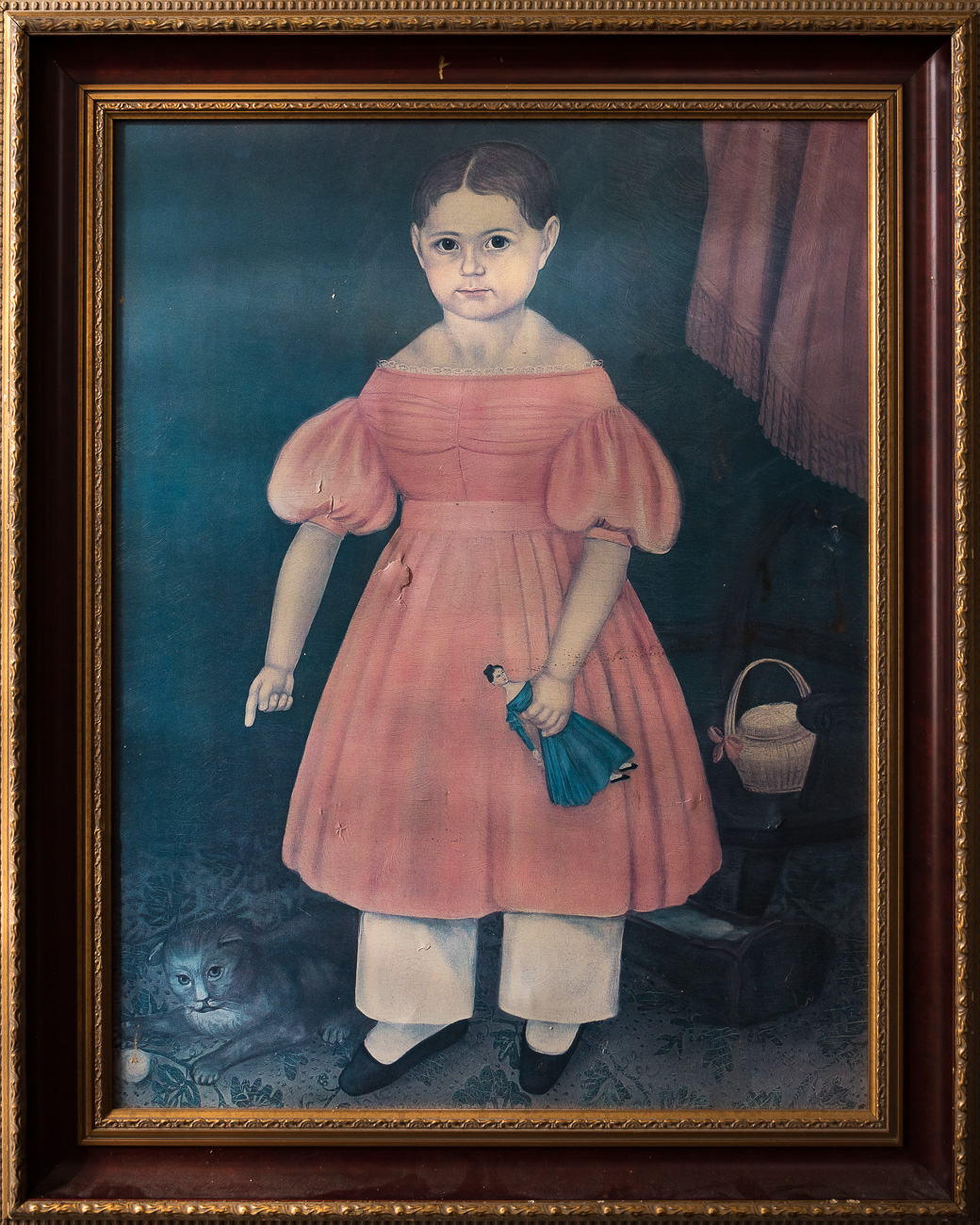 "#9 - ""The Restless Painting,"" a framed picture of a mysterious girl that causes other pictures around it to fall off the wall. Read more about The Restless Painting in the story. / Image: Phil Armstrong, Cincinnati Refined // Published: 10.20.1<p></p>"