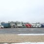 Truck drivers find place in Grand Island to wait out the storm