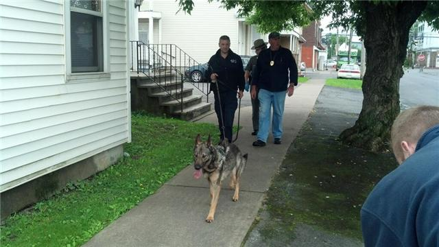State Police are going door to door with a K-9 unit on the third day of search for Levon Wameling