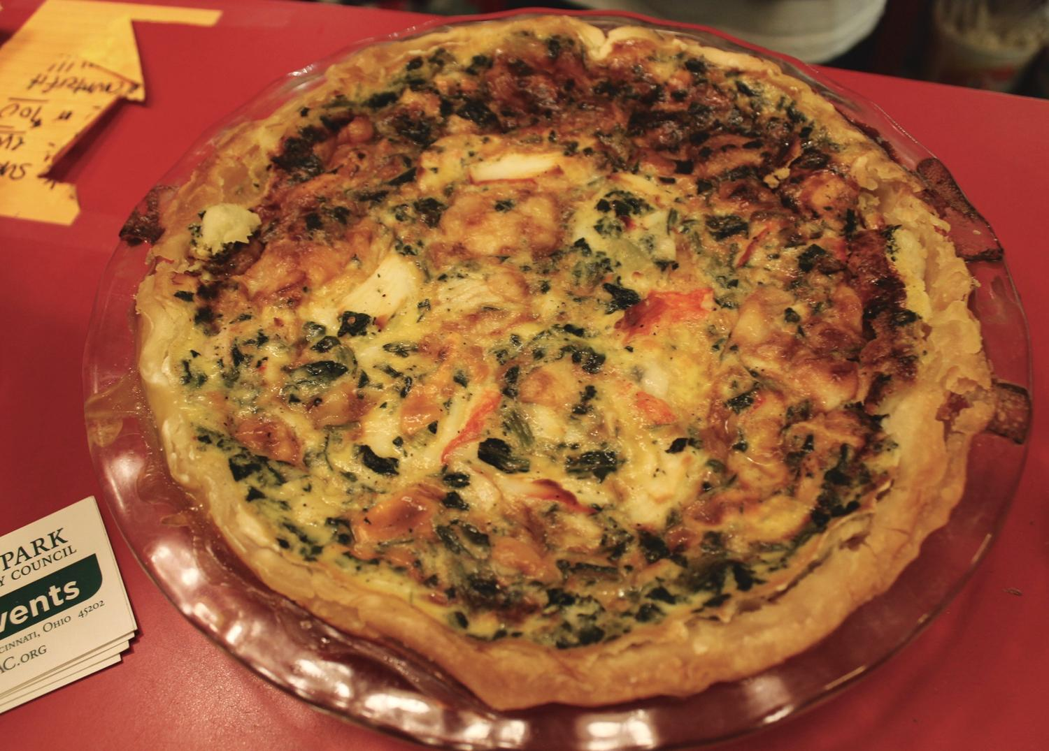Crabmeat, spinach, and cheese quiche / Image: Rose Brewington // Published: 7.29.17