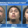Restaurant fight, caught on camera, leads to three arrests