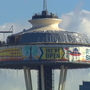 Space Needle's construction screen comes down, new glass to be revealed in coming weeks