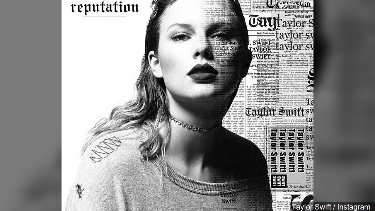 "Taylor Swift posted the cover to her new album ""Reputation"" on Instagram. (MGN)"
