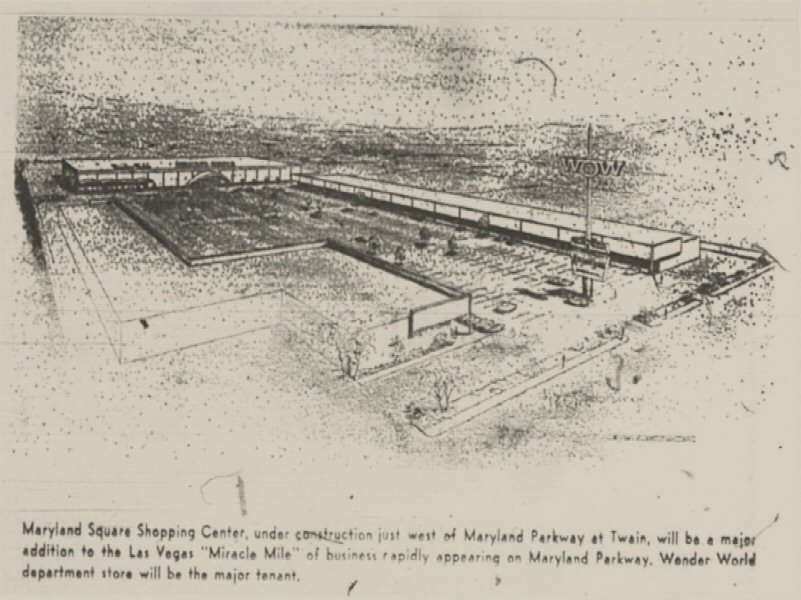 Plans for Maryland Parkway