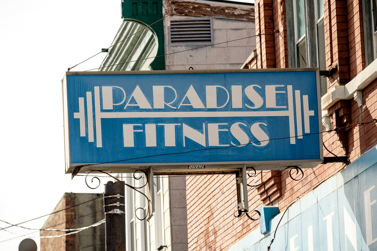 SIGN: Paradise Fitness / ADDRESS: 6019 Vine St, Cincinnati, OH 45216 // Image: Daniel Smyth // Published: 2.18.17