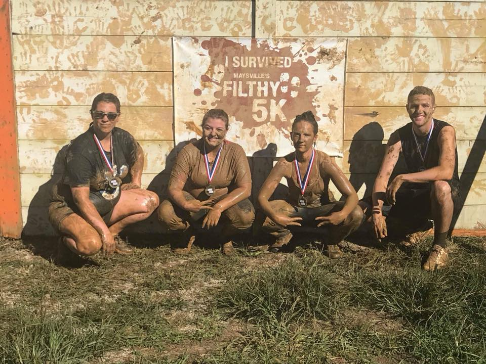 If you're into athletic challenges, Maysville has its own Tough Mudder, the Filthy 5K, which is September 14. It benefits Circle H Horse Farm which is a non-profit that gives people with special needs the opportunity to do horse therapy.