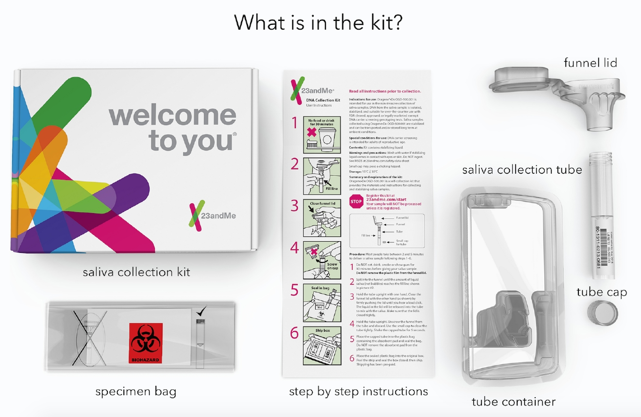 A free DNA collection kit will be offered to the first 10,000 Nevadans who volunteer for a population health study (Photo courtesy 23andMe)
