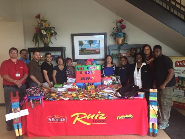 Ruiz Foods Florence coordinated with the Florence County Collaborative Council to donate more than 500 school supply items to children in Florence County. (Courtesy photo: Leticia Juarez Sisson / Ruiz Foods Florence)