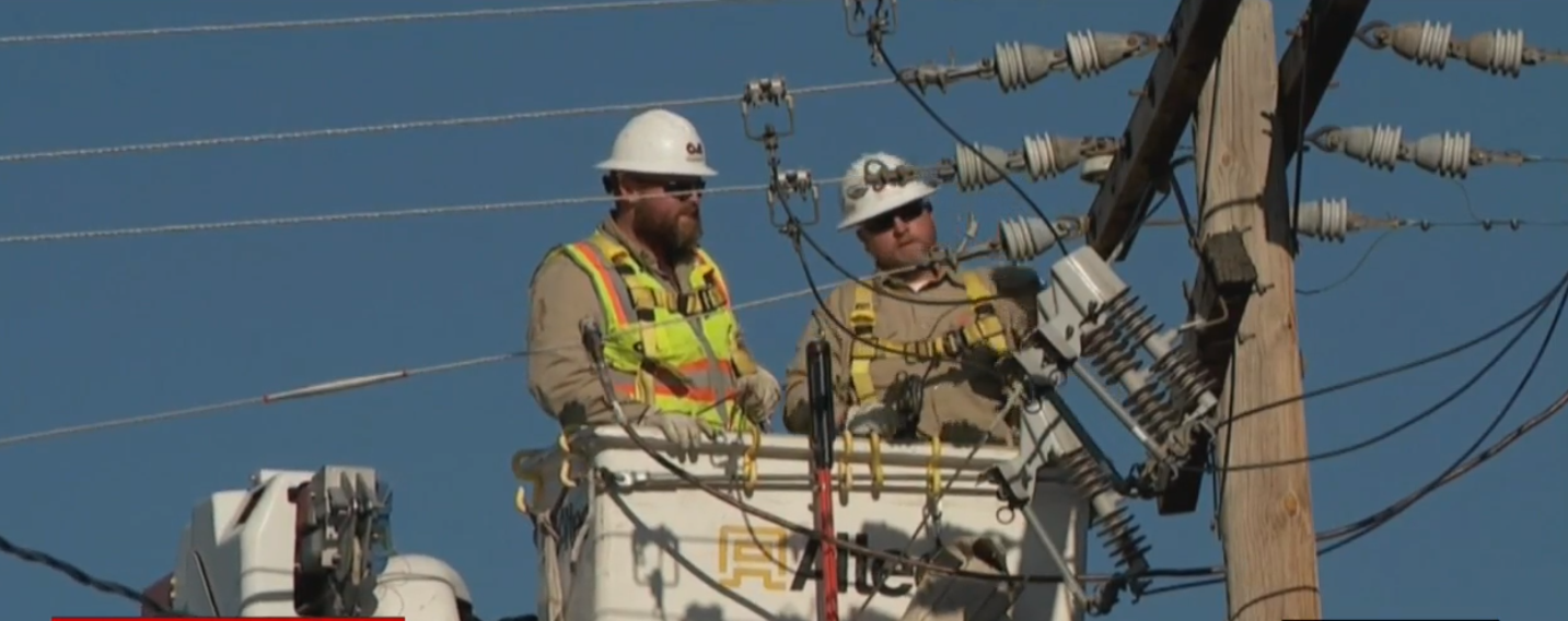 Efforts to restore power to the remaining 40,000 Utahns who lost electricity during a historic windstorm on Tuesday will continue through the weekend. (Photo: KUTV)
