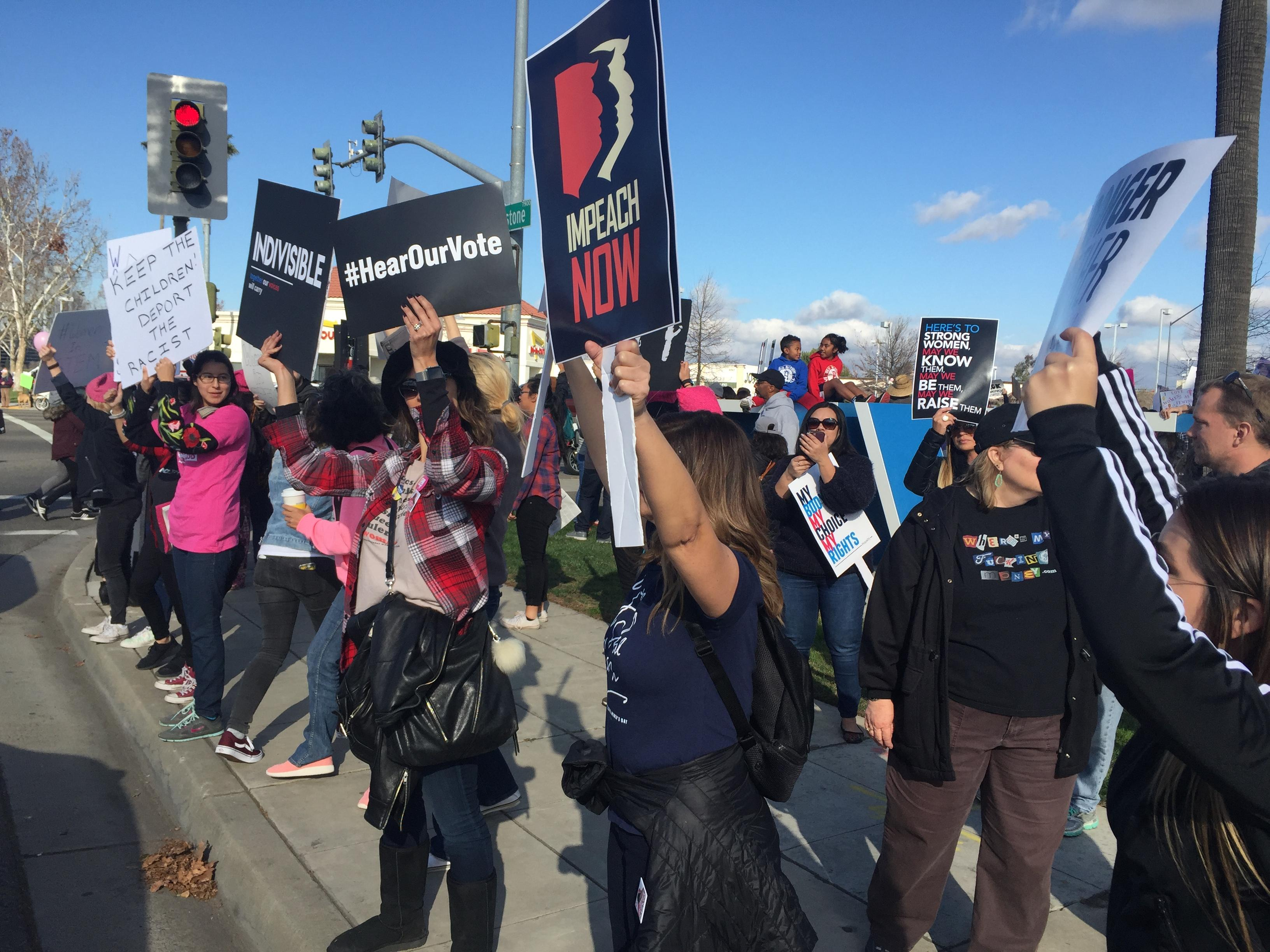 Hundreds of people came out in support of the Women's March in Fresno Saturday morning.