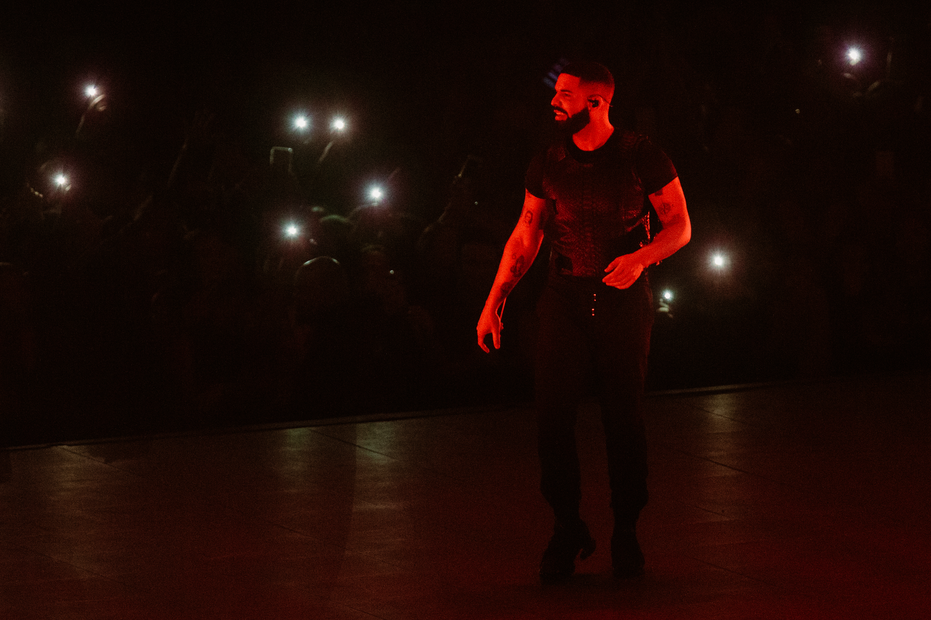 Drake was the first artist to play the renovated Tacoma Dome last night (Nov. 1) and RIGHTLY SO. The Canadian award-winning rapper shut it down south of the city, as part of his Aubrey & The Three Migos Tour. The Migos mysteriously didn't show up, but don't worry - Drake has it covered. (Image: Sunita Martini / Seattle Refined)