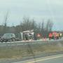 Tractor trailer crash in LeRoy slows Thruway traffic