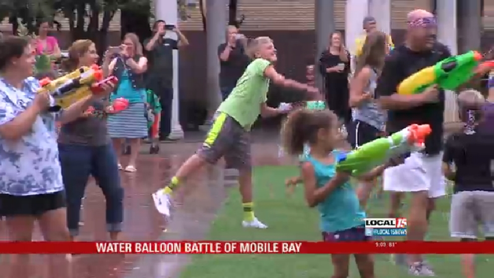 Water Balloon Battle Commorates Battle of Mobile Bay | WJTC