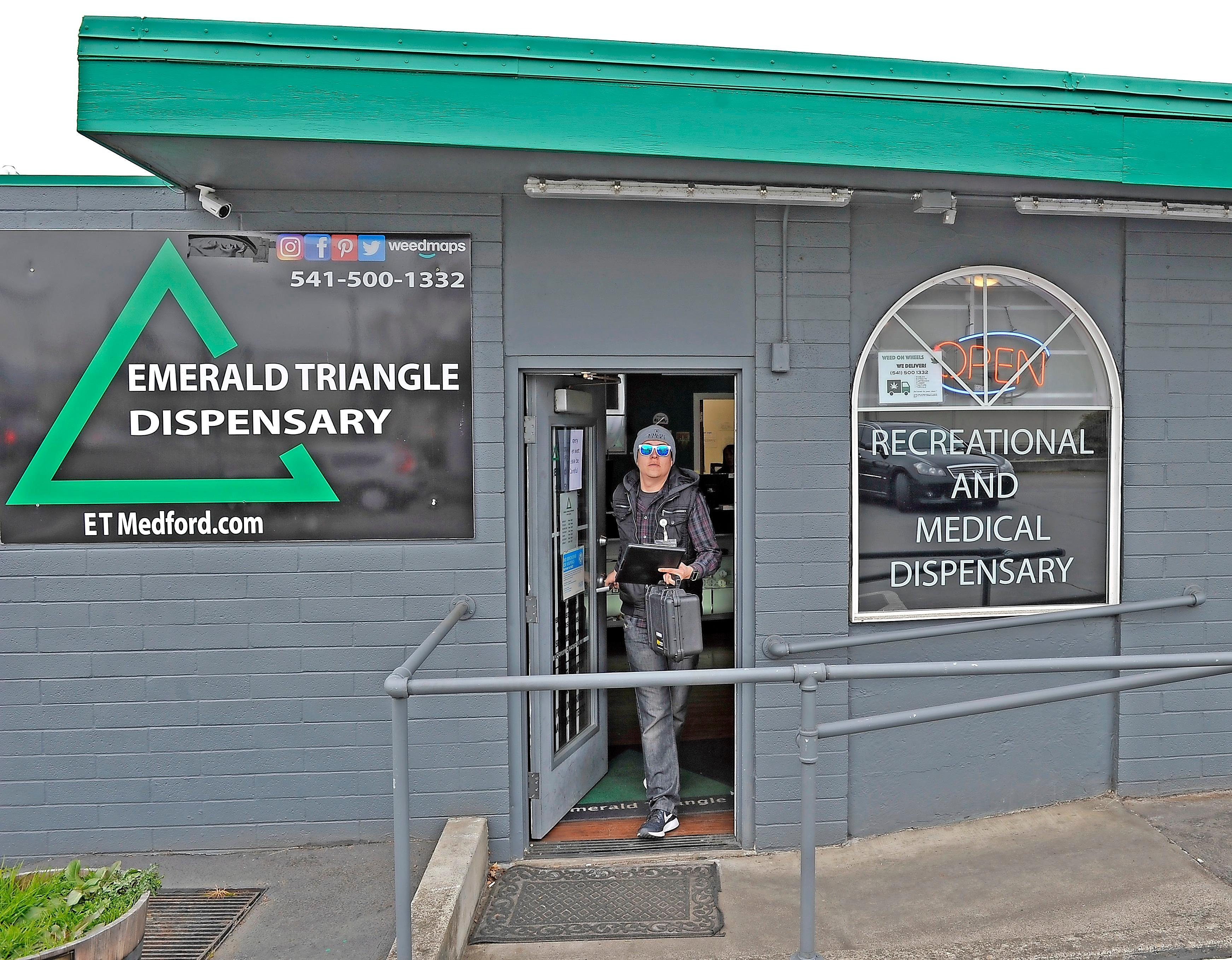 Emerald Triangle Dispensary in Medford is the first local cannabis store to begin deliveries. - JAMIE LUSCH / MAIL TRIBUNE
